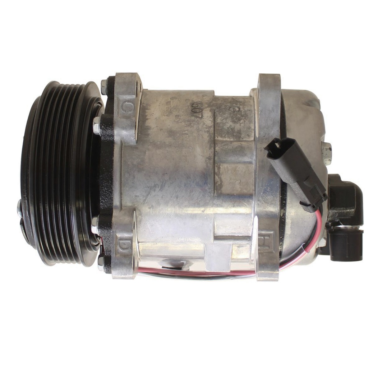Air Conditioning Compressor 7023580 12V Compatible with Bobcat Skid Steer Loader A770 L750 S630 S650 S750 S770 S850 T630 T650 T750 T770 T870