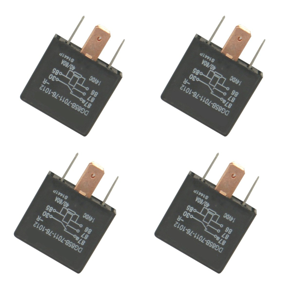 Relay Switch Fuse Panel 6679820 4PCS Compatible with Bobcat Loader 463 553 751 753 763 773 863 864 873 883 963 A220 A300 A770