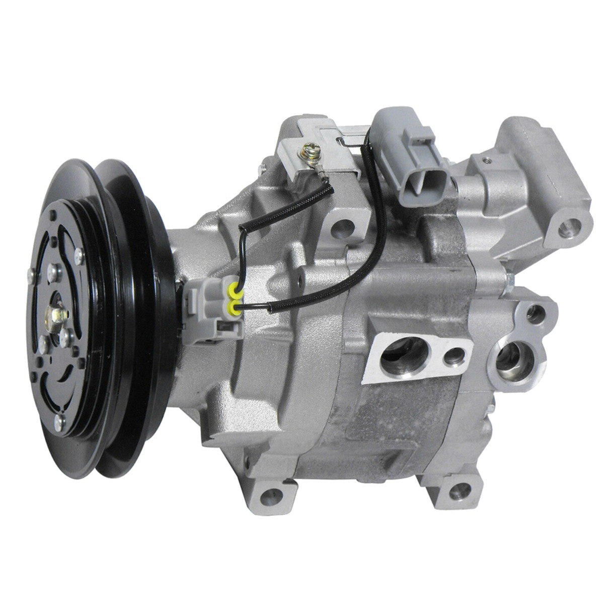 Air Conditioning Compressor 6A671-97110 12V Compatible with Kubota Tractor M125XDTC M-120FC M-120DTC M-110FC M108XDTC M105XDTC M105SDT-CAB-CAN