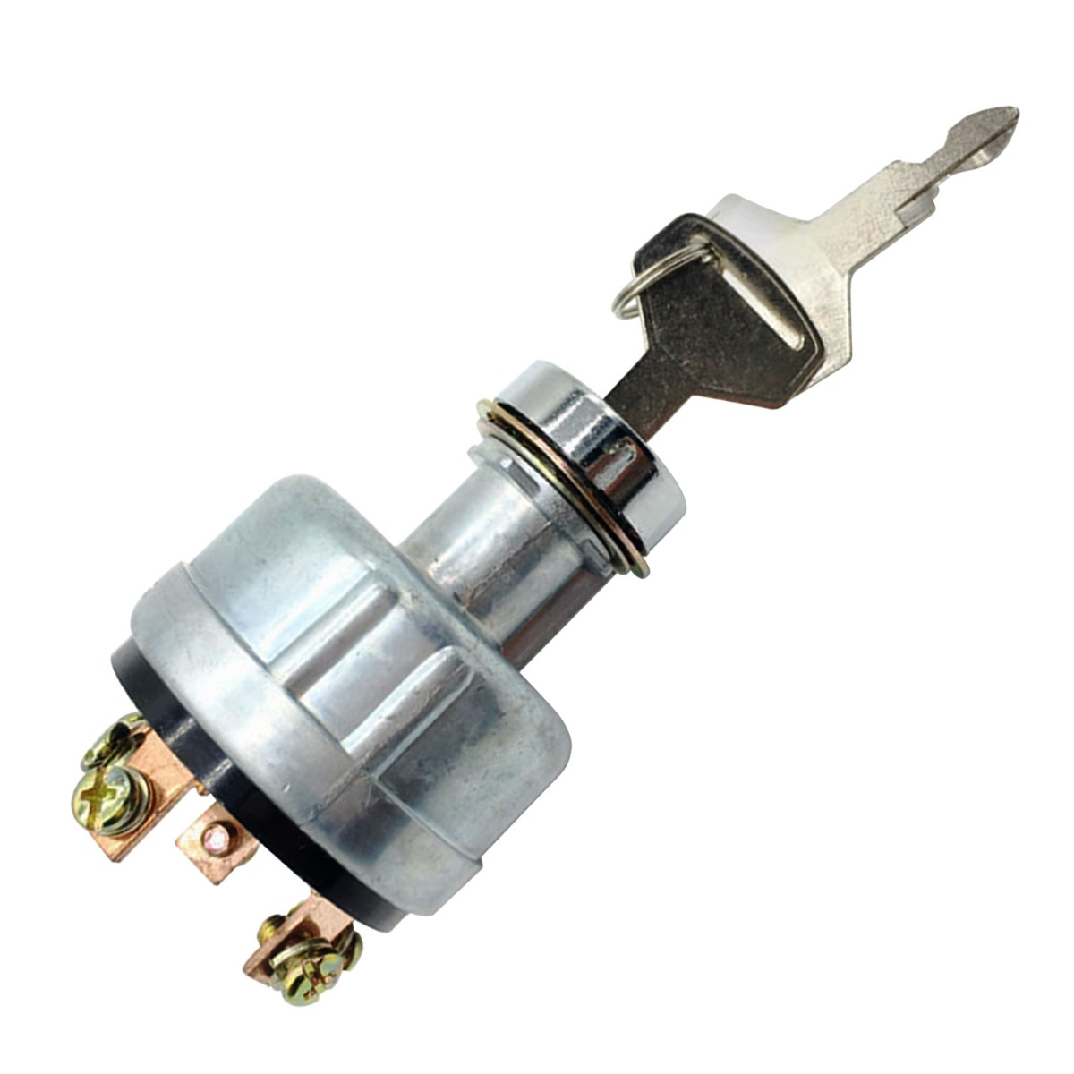 Ignition Switch YN50S00002F1 with 2 Key 4 Position 6 Terminal Wire Digger Compatible with Ford 3400