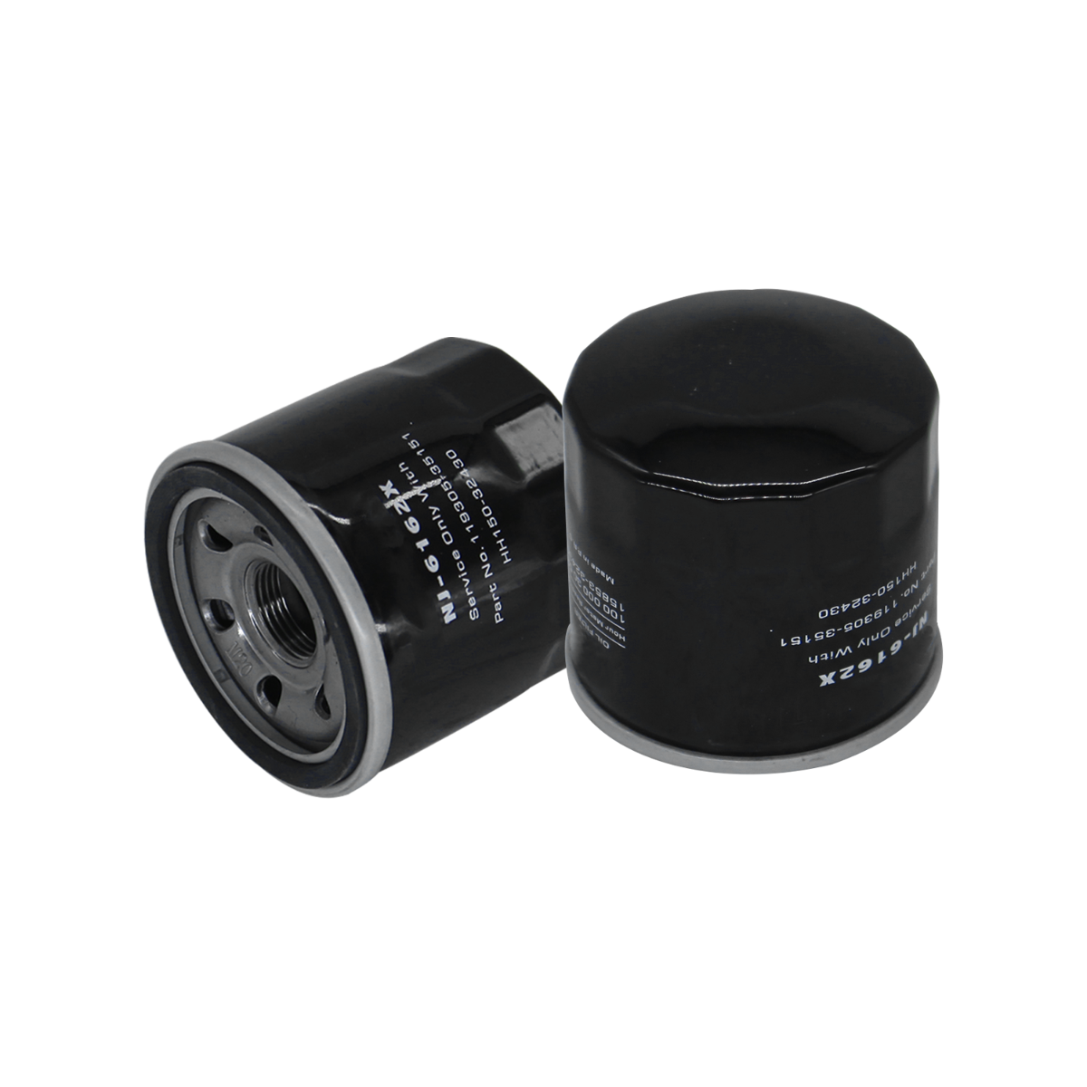 Oil Filter 16097-1072 2Pcs Compatible with Hitachi Zaxis 8 ZX17U-2 ZX8-2