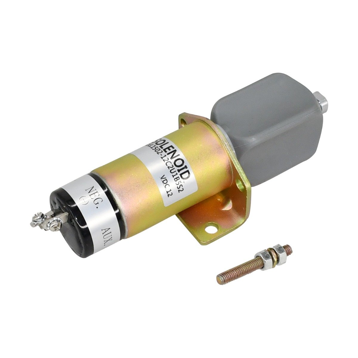 12V Shut Down Solenoid 1502-12C2U1B5S2 Compatible With Woodward