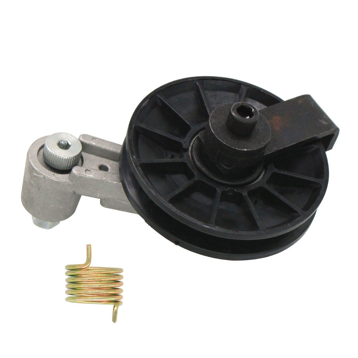 Cooling Fan Pulley Tensioner Kit 6662997 Compatible With Bobcat Skid Steer Loader 653 751 753 763 773 7753 853 863 864 873 883 A220 A300 S100 S130 S150 S160 S175 S185 S205 S220 T250 T300